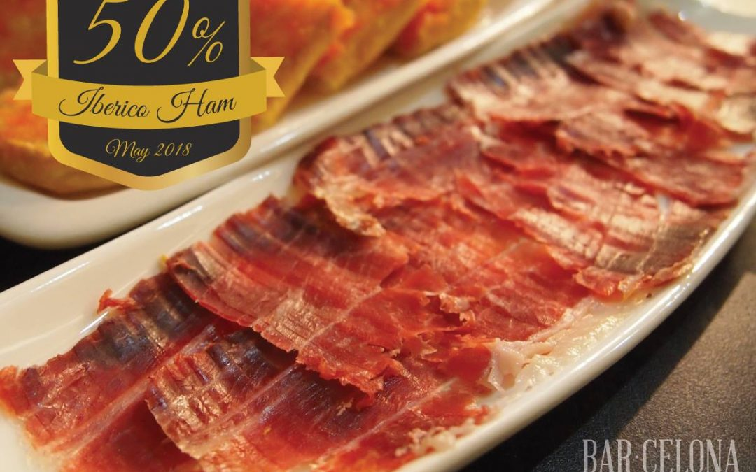 50% Off in our Spanish Iberico Ham *May2018